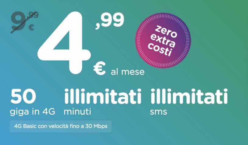 50GB 无限制拨打电话 4.99€ ho mobile 疯了! 意国杂烩 第1张