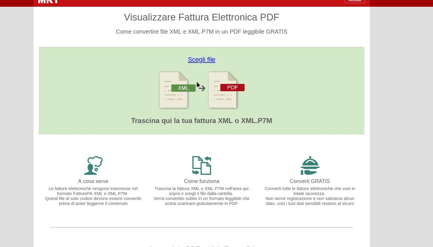 意大利fattura elettronica  电子发票xml转pdf方法