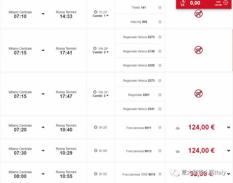 在意大利还在为买张便宜火车票犯愁?这个网站得拥有! 生活百科 第1张