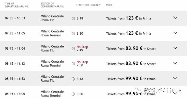 在意大利还在为买张便宜火车票犯愁?这个网站得拥有! 生活百科 第2张