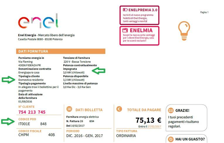 如何在意大利看懂电费单?小编带你详细解释意大利电费… 生活百科 第15张