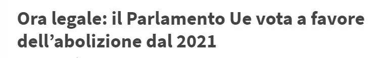号外:欧盟同意从2021年起取消夏令时 意国新闻 第2张