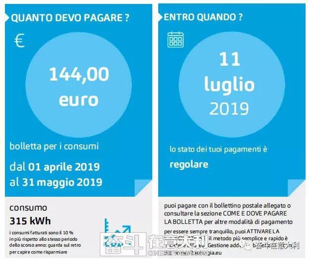 意大利电费单收费内容,你都看得懂吗?小编告诉你…