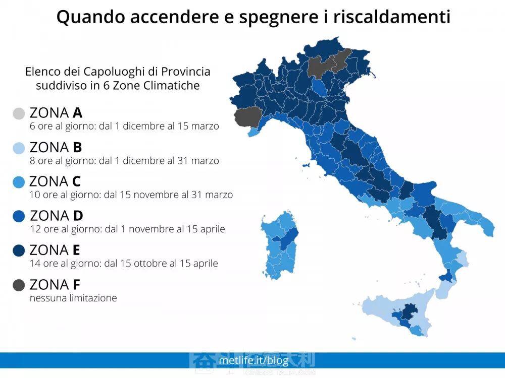 天凉了,意大利2019-2020冬季供暖时间表出炉 意国杂烩 第2张